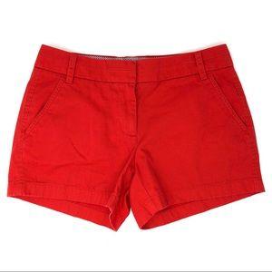 J. Crew Red Chino Shorts